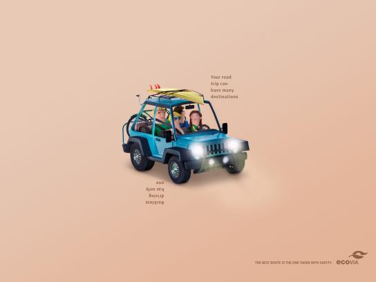 Ecovia Print Ad -  The best route is the one taken with safety, 2