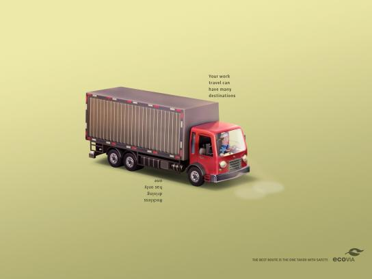 Ecovia Print Ad -  The best route is the one taken with safety, 3