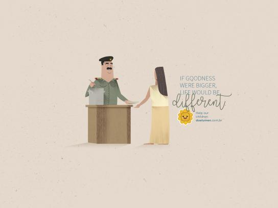 Lumen et Fides Print Ad - Saddam