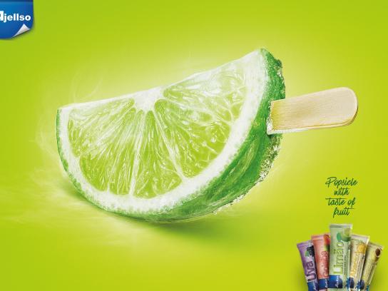 Ajellso Print Ad - Lime