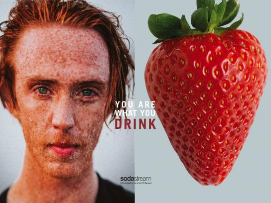 SodaStream Print Ad - You Are What You Drink - Strawberry