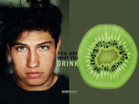 SodaStream Print Ad - You Are What You Drink - Kiwi