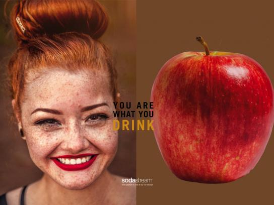 SodaStream Print Ad - You Are What You Drink - Apple