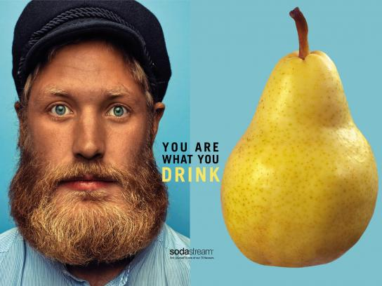 SodaStream Print Ad - You Are What You Drink - Pear