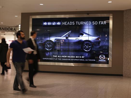 Mazda Outdoor Ad - The Head Turning Billboard