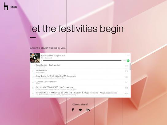 Havas Digital Ad - Let the festivities begin