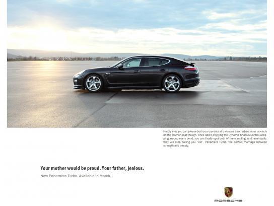 Porsche Print Ad -  Perfect, 2
