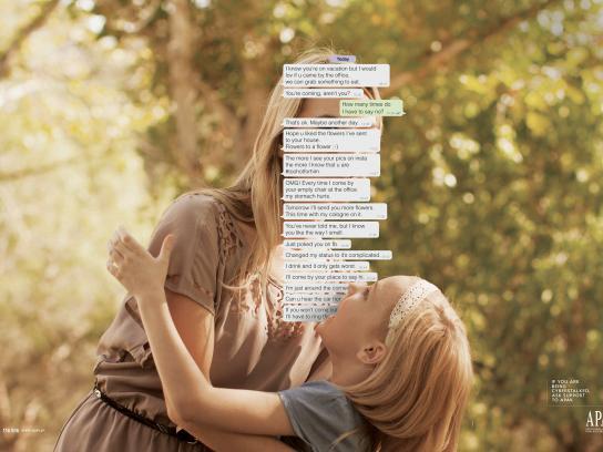 APAV Print Ad -  Cyberstalker, 2