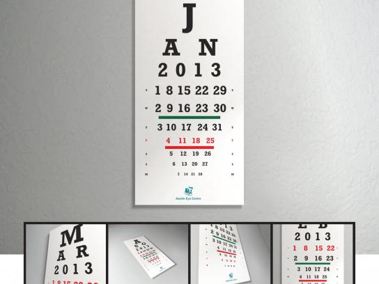 Apollo Eye Clinic Direct Ad -  Eye Chart