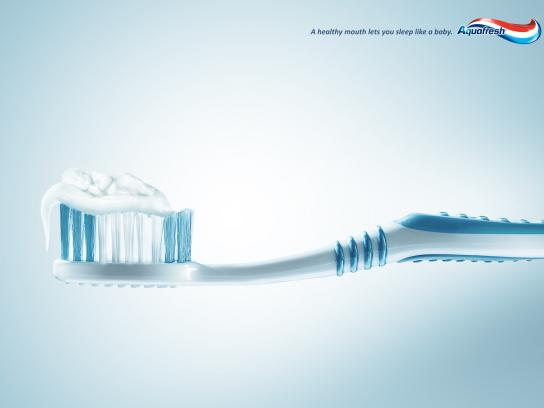 Aquafresh Print Ad -  Sleep like a baby