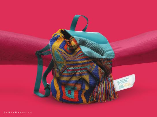 De Mis Manos Print Ad - Backpack