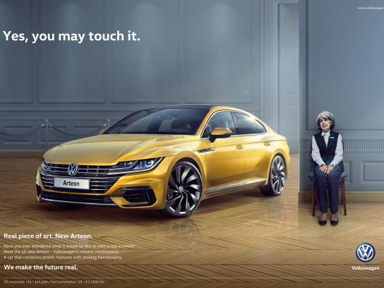 Volkswagen Print Ad - Real Piece of Art