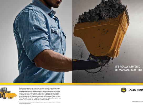 John Deere Print Ad -  Building Together, 1