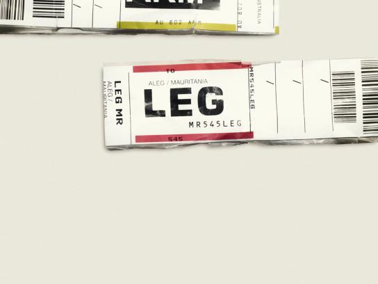 Expedia Print Ad -  ARM LEG