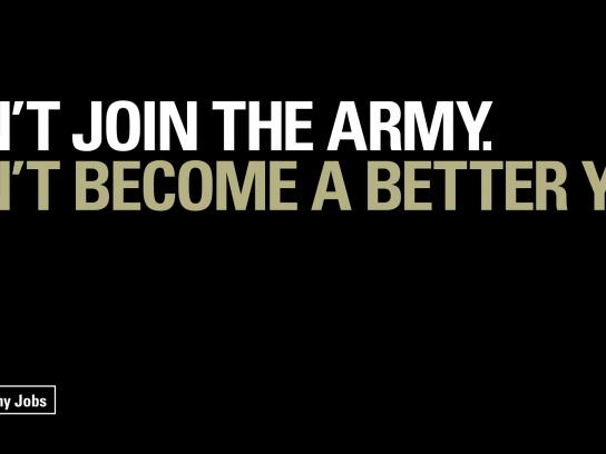 British Army Print Ad -  Don't join, 1