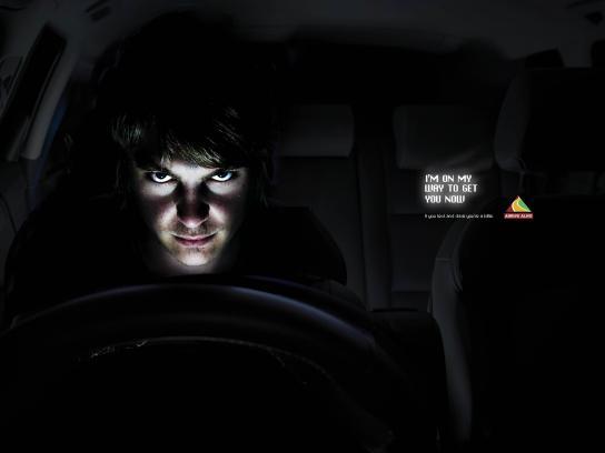 Arrive Alive Print Ad -  Chris