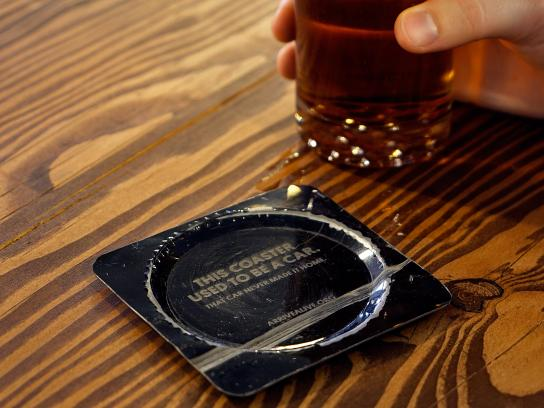 Arrive Alive Direct Ad - Crash Coasters