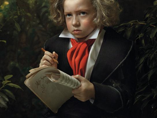 Poste Italiane Print Ad - Beethoven