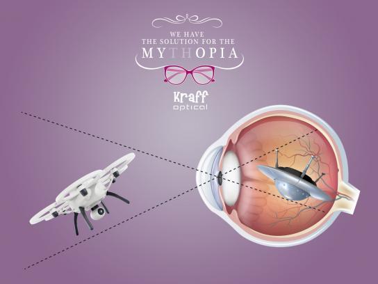 Kraff Optical Print Ad -  Mythopia, 2