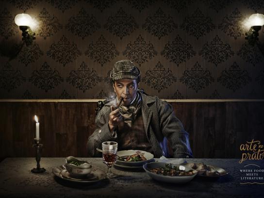 Arte No Prato Print Ad -  Sherlock Holmes