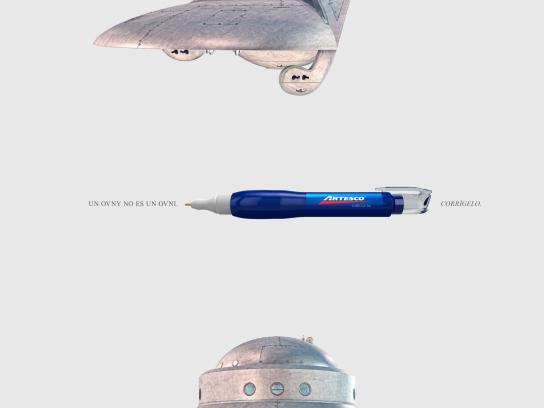 Artesco Print Ad -  Correct it - UFO
