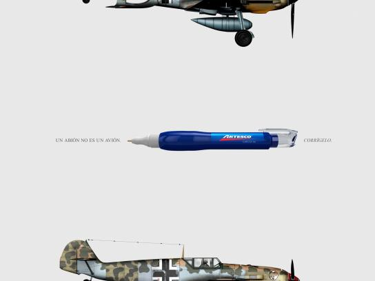 Artesco Print Ad -  Correct it - Plane