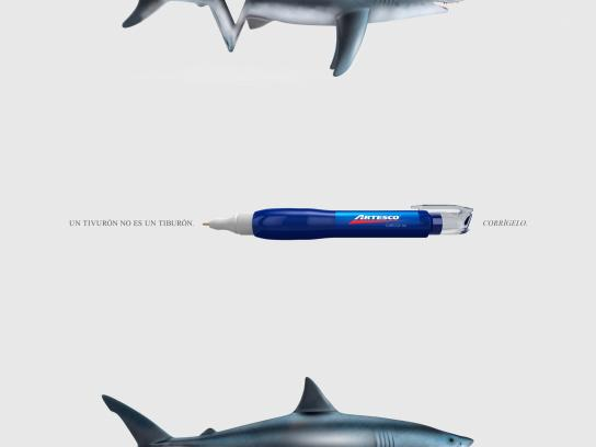 Artesco Print Ad -  Correct it - Shark