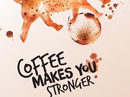 Caribou Coffee Print Ad - Coffee Makes You Stronger