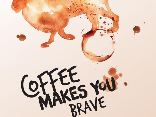 Caribou Coffee Print Ad - Coffee Makes You Brave