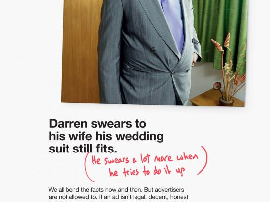 Advertising Standards Authority Print Ad -  Darren