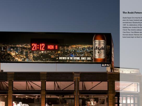 Asahi Outdoor Ad -  The Future Clock