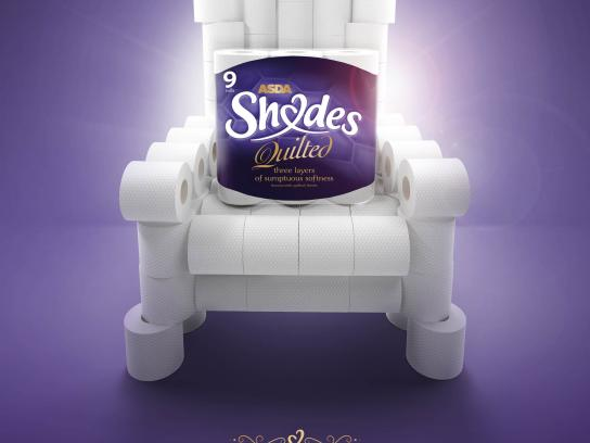 Asda Print Ad - Throne
