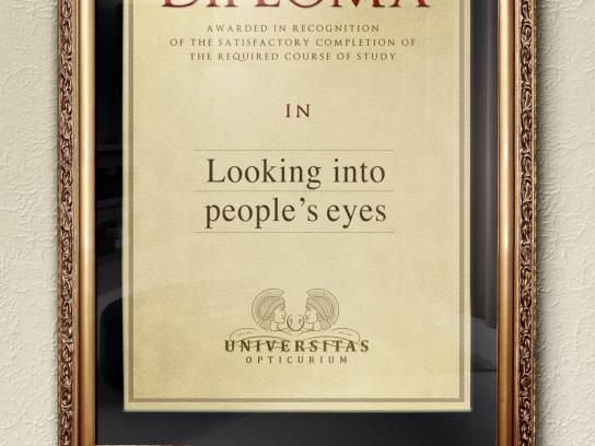 Autism Forum Switzerland Print Ad -  Looking into people's eyes
