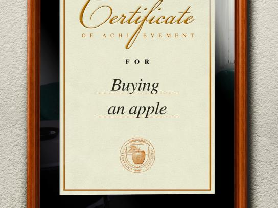 Autism Forum Switzerland Print Ad -  Buying an apple