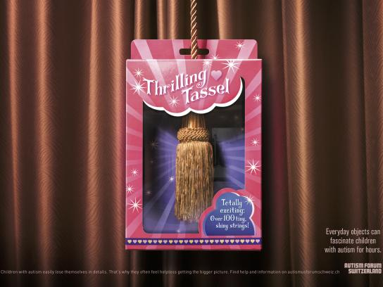 Autism Forum Switzerland Print Ad - Thrilling Tassel