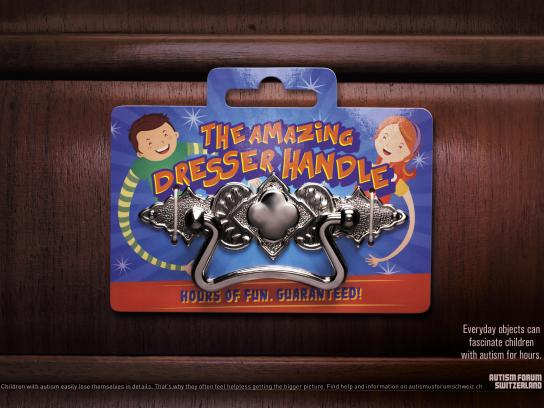 Autism Forum Switzerland Print Ad - The Amazing Dresser Handle