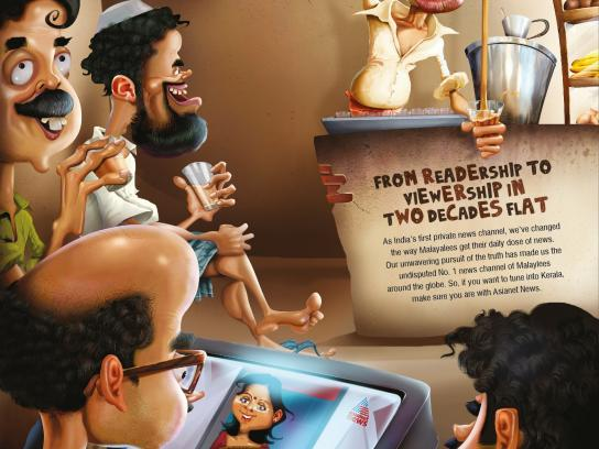 Asianet News Print Ad -  Two decades, 1