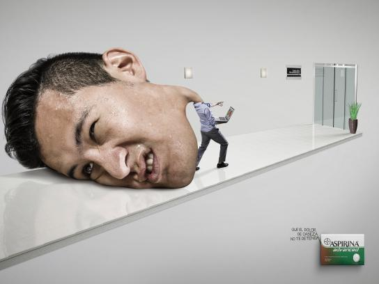 Aspirin Print Ad -  Man