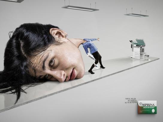 Aspirin Print Ad -  Woman