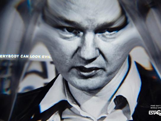 Estação Print Ad -  Assange