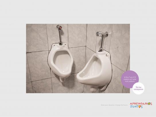 Aprendamos Juntos Print Ad - Urinal