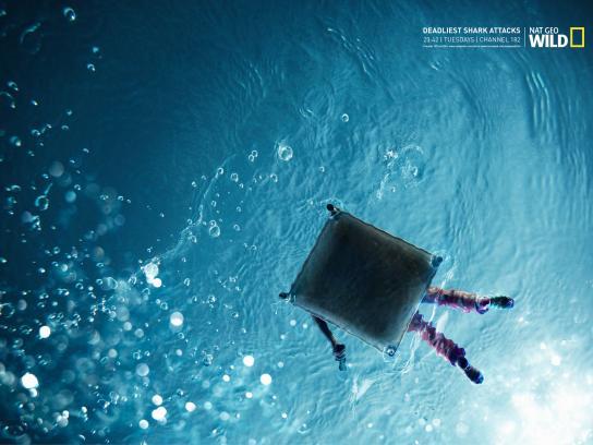 National Geographic Print Ad -  Deadliest shark attacks, 1