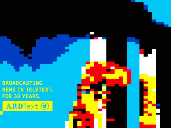 ARD Print Ad -  33 years of ARD Teletext, 1