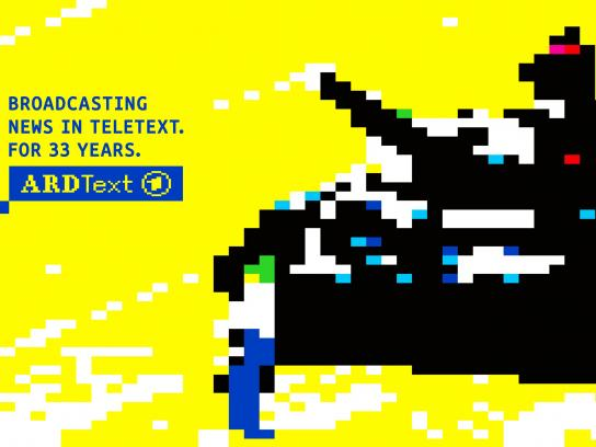 ARD Print Ad -  33 years of ARD Teletext, 2