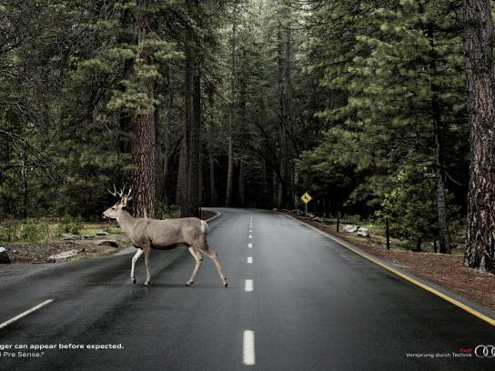 Audi Print Ad -  Deer