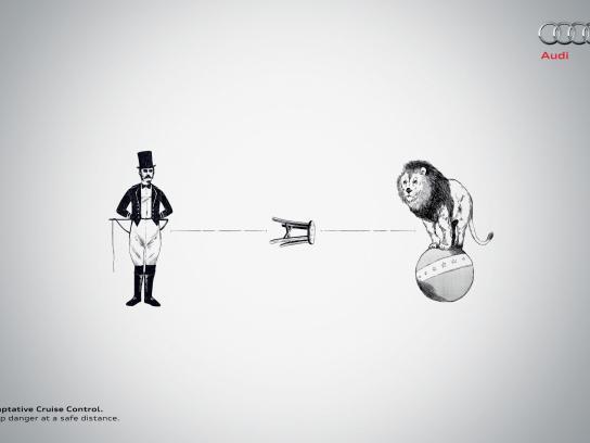 Audi Print Ad -  Lion