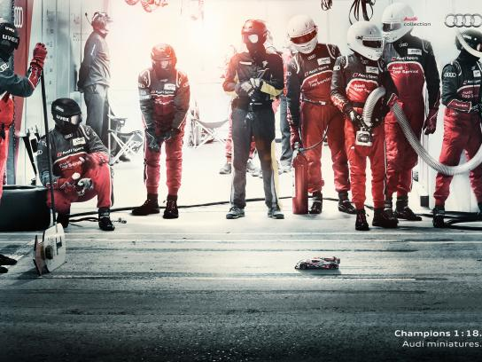 Audi Print Ad -  Audi Miniature Champions - Training Day