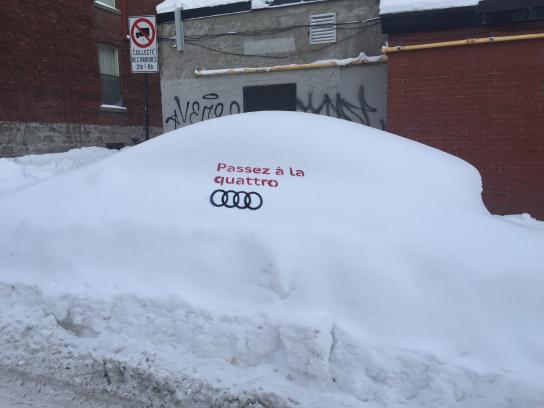 Audi Ambient Ad - Snowtagging