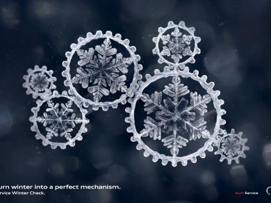 Audi Print Ad -  Snowflakes
