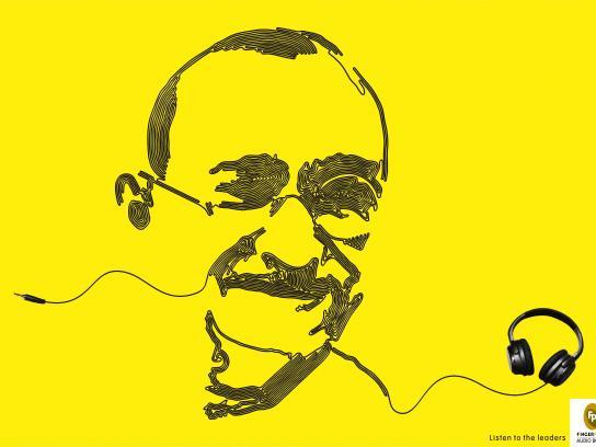 Fingerprint Audio Books Print Ad - Audio books - Gandhi